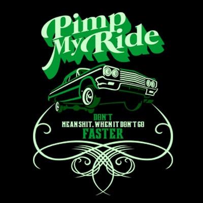 PIMP MY RIDE t shirt illustration