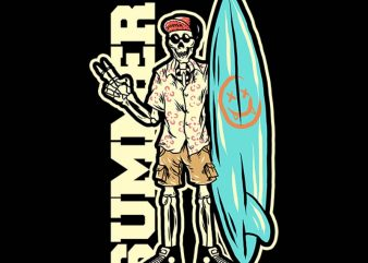 skull on vacation tshirt design buy t shirt design