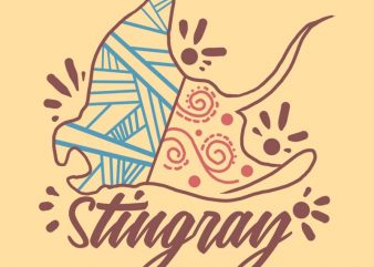 stingray tshirt design