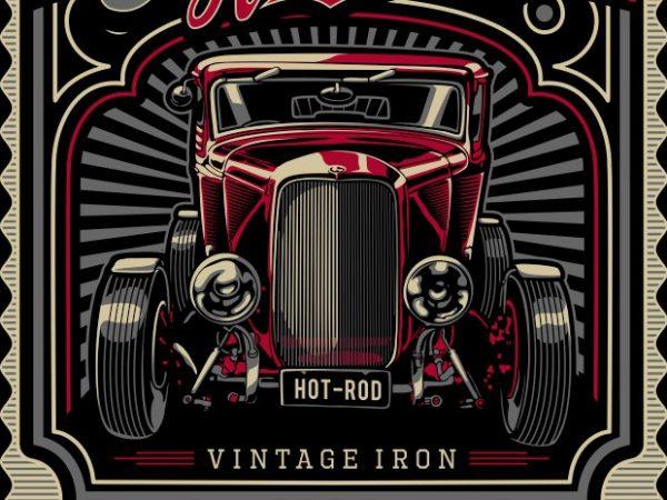 Gasoline racer t shirt design template