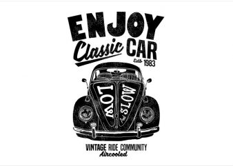 Enjoy Classic Car t shirt template