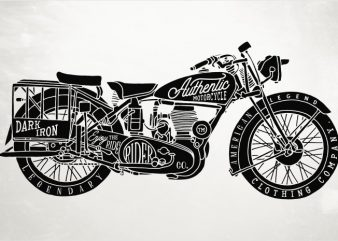 Classic Bike t shirt vector