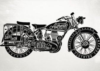 Classic Bike t shirt vector file