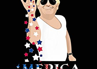 Trump Merica Salt Bae America Flag T shirt PNG 4th Of July Trump