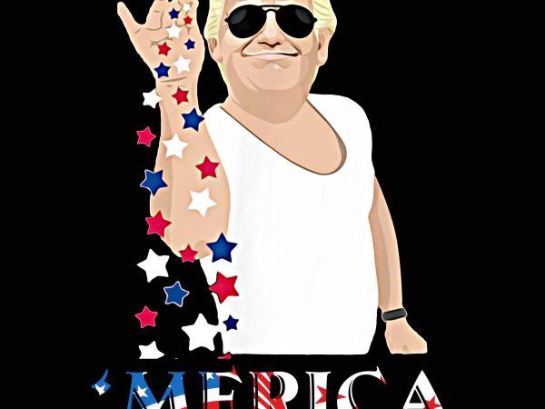 Trump Merica Salt Bae America Flag T shirt PNG 4th Of July Trump