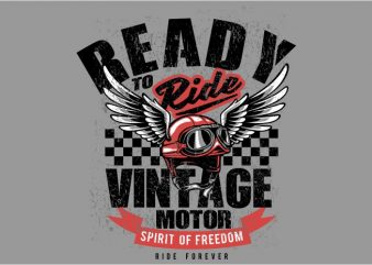 Vintage motor helmet buy t shirt design
