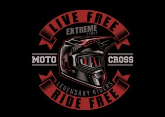 Motorcross helmet t shirt designs for sale