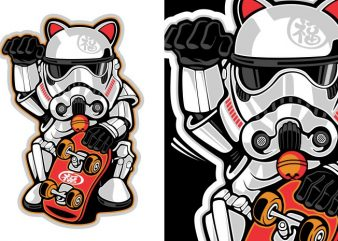 Maneki Trooper buy t shirt design