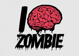 I love zombie t shirt design for sale