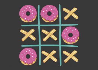 Donuts Game! t shirt vector illustration
