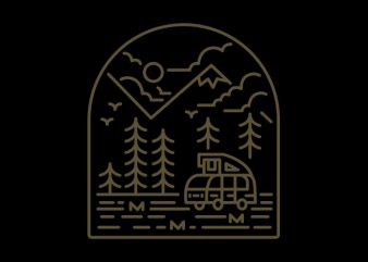 Into the Mountain t shirt template