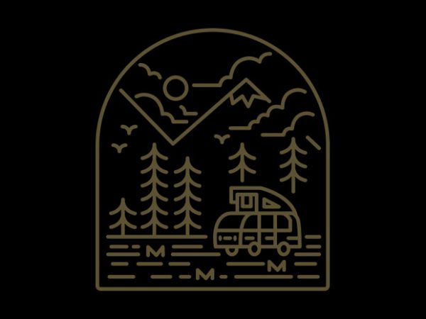 Into the Mountain t shirt design for sale