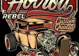 An American Original Hotrod t shirt vector