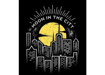 moon in the city t shirt designs for sale