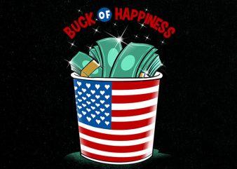 buck of happiness Graphic t-shirt design