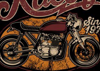 Cafe Racer Just wanna ride t shirt template