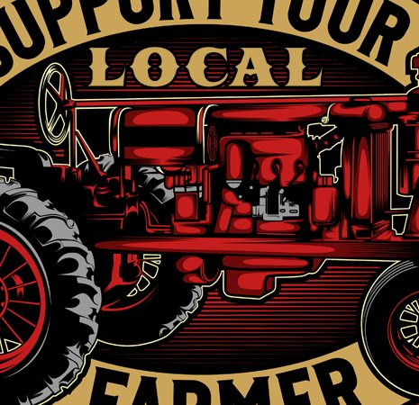 support your local farmer t shirt template vector
