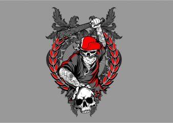 Skull Holigans t shirt template vector