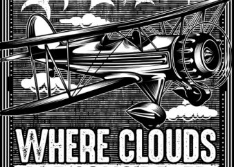 Where Clouds Are considered Family t shirt design for sale