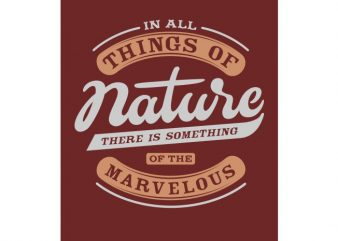 Nature t shirt vector artwork