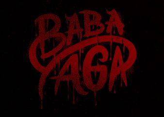 baba yaga blood tshirt design