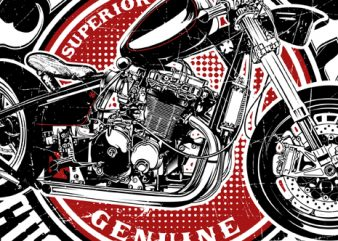 Chopper custom works t shirt vector file