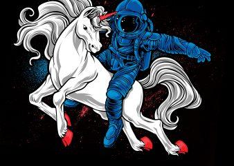 horseman astronaut- astronaut +horse t-shirt design