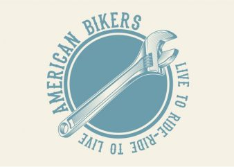 American Biker t shirt vector