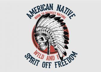 American Natie t shirt vector