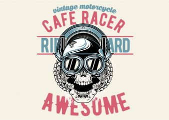 Awesome Cafe Racer t shirt vector