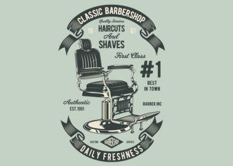 Barberchair t shirt template
