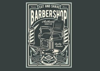 Barbershop t shirt template