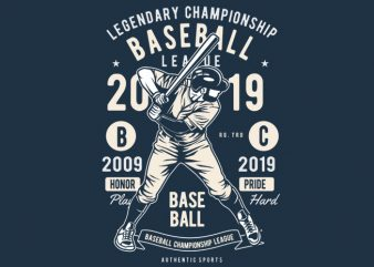 Baseball t shirt template