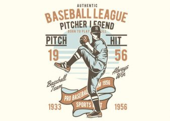 Baseball League t shirt vector
