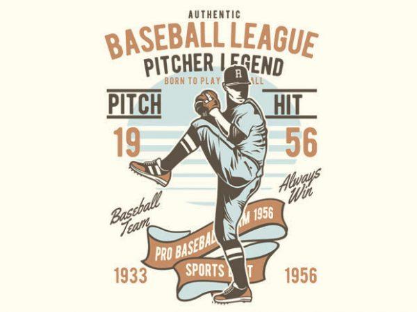 Baseball League t shirt template