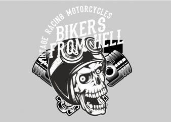 Biker From Hell t shirt template