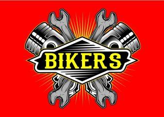 Biker Piston t shirt template