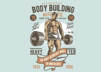 Body Builder t shirt template