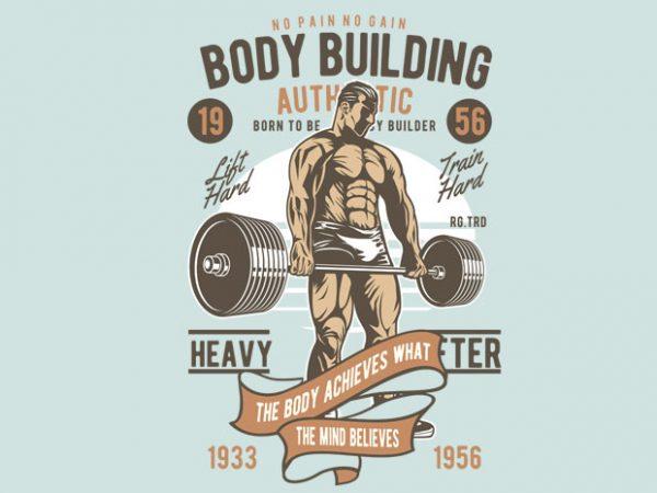 Body Builder t shirt template