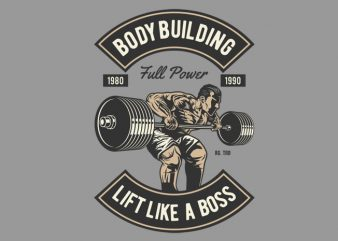 Body Building t shirt vector