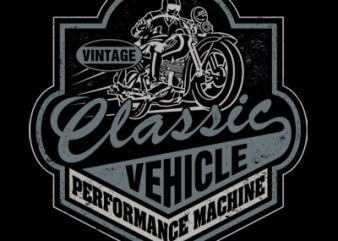 CLASSIC VEHICLE t shirt vector