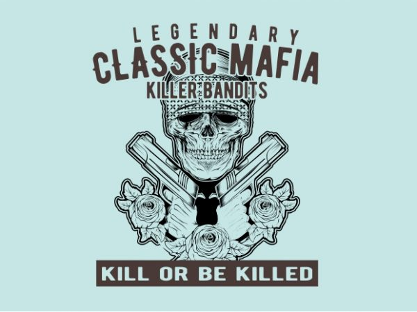 Classic Mafia t shirt vector file