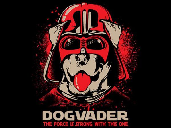 Dog vader t shirt vector illustration
