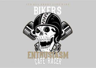 ENTHUSIASM CAFE RACER vector clipart