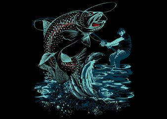 Fish on t shirt vector