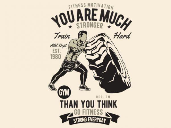 Fitness t shirt graphic design