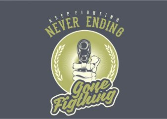 Gone Fighting t shirt design template