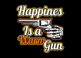 Happines is a Warm Gun graphic t shirt