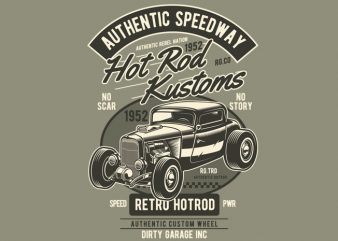 Hot Rod Kustoms t shirt template