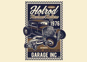 Hot Rod Kustoms Kulture graphic t shirt
